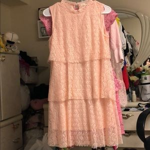 Gorgeous peach / baby pink layered floral dress